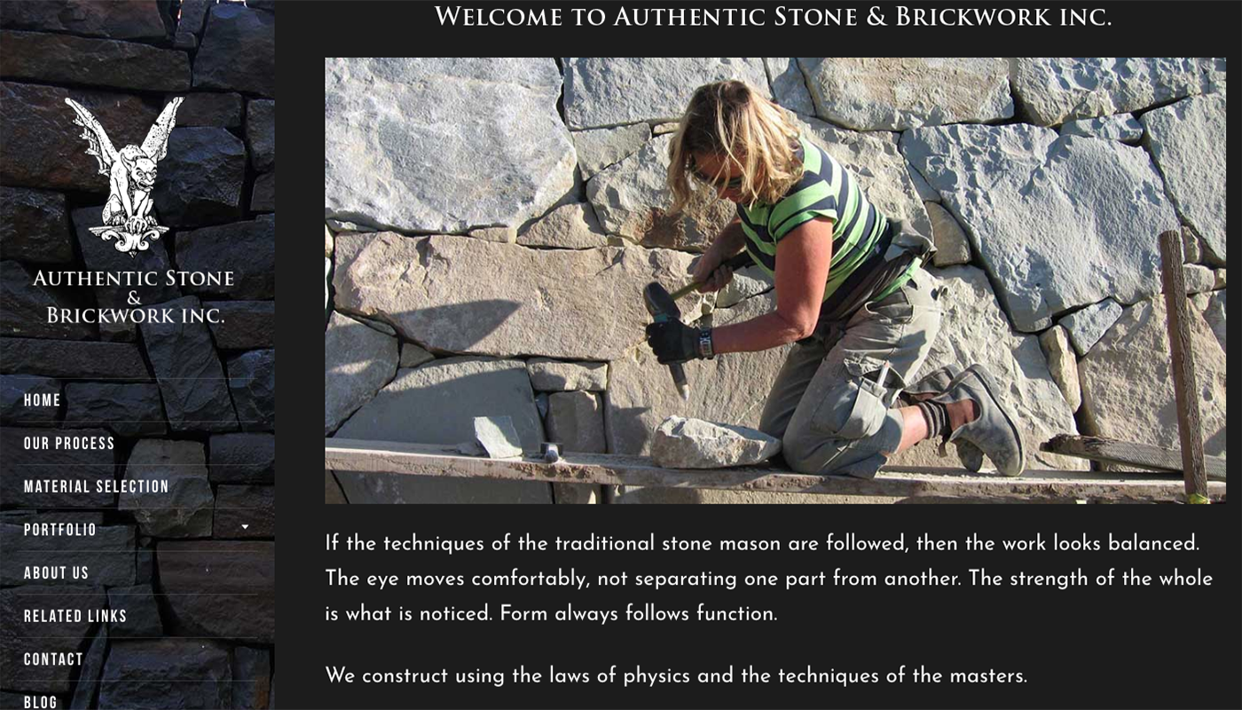 authentic stone